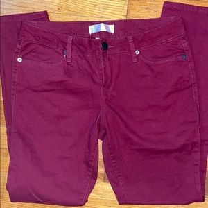 No Boundaries Skinny Maroon Jeans Size 11